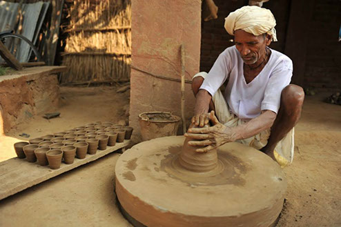 Indian potter's wheel